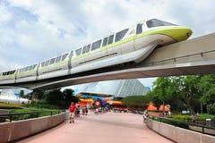 Enskenig järnväg på Disney Epcot Arkivbild