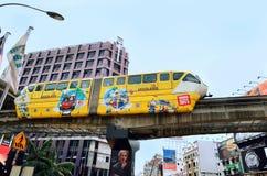 Enskenig järnvägdrev i Kuala Lumpur, Malaysia Arkivbilder