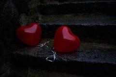 Ensliga hjärtor Arkivfoton