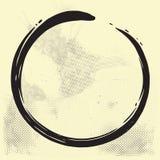 Enso禅宗圈子刷子在老纸的传染媒介例证 皇族释放例证