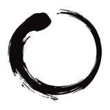 Enso της Zen κύκλων διανυσματική απεικόνιση μελανιού βουρτσών μαύρη Στοκ Εικόνες