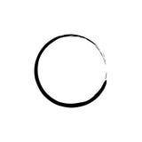 Enso noir Zen Circle sur le fond blanc Vecteur illustration de vecteur
