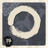 Enso zen circle illustration traditional Stock Photos
