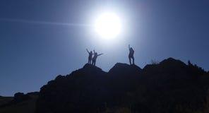 Ensoleillé, coucher du soleil, les gens, bâti, voyage Image libre de droits