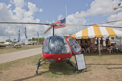 Enstrom F28F Red Helicopter Front View Royalty Free Stock Image