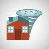 Ensure protection insurance risk. Home isolated,  illustration Royalty Free Stock Images