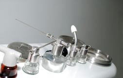 ENT apparatus. Apparatus for ENT doctor at hospital Stock Images