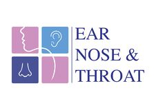 ENT logomall Gå mot örat, näsan, halsdoktorsspecialister Logo Concept linje vektorsymbol Redigerbar slaglängd Plant linjärt dålig royaltyfri illustrationer