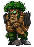 Ent. Sketch fantasy character tree-warrior Royalty Free Stock Images