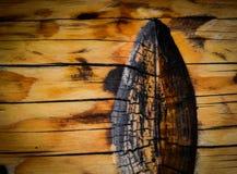 Entaille dans les faisceaux en bois photographie stock libre de droits