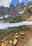 Entaille et lac d'iceberg images libres de droits