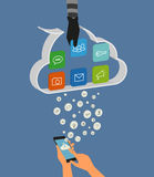 Entailler de nuage Image stock