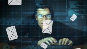 Entailler des emails banque de vidéos