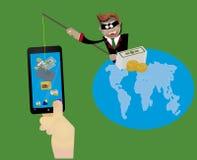 Entailler et phishing Images libres de droits