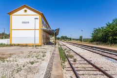 Entaktivierte Bahnstation von Crato Stockbild