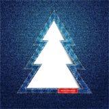 Entalhe da árvore da sarja de Nimes Imagem de Stock Royalty Free