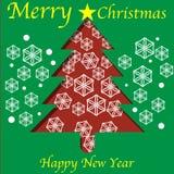 Entalhe da árvore de Natal Imagem de Stock Royalty Free