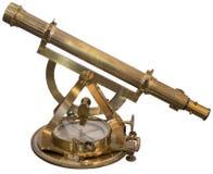Entalhe de bronze velho do sextante Fotografia de Stock Royalty Free