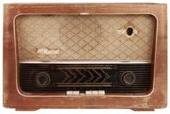 Entalhe de rádio de madeira velho Fotos de Stock Royalty Free