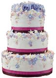 Entalhe do bolo de casamento Fotos de Stock Royalty Free