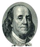 Entalhe do retrato de Franklin Benjamin (trajeto de grampeamento) Foto de Stock
