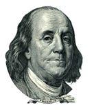 Entalhe do retrato de Franklin Benjamin (trajeto de grampeamento) Fotos de Stock Royalty Free