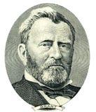 Entalhe do retrato de Ulysses S. Grant (trajeto de grampeamento) Fotografia de Stock Royalty Free