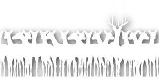 Entalhe dos cervos ilustração royalty free