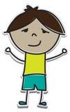 Entalhe dos desenhos animados de um menino Fotografia de Stock
