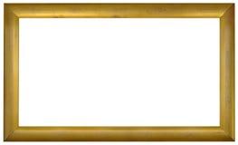 Entalhe dourado do frame de retrato foto de stock