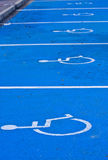 Entalhes de estacionamento incapacitados Imagens de Stock Royalty Free