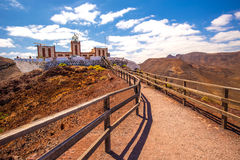 Entallada lighthouse, Fuerteventura, Canary island, Spain. Royalty Free Stock Image