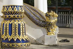 Entance au Phra Mahathat Vihan dans Nakhon Sri Thammarat, Thaïlande Images stock