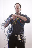 Entangle technician Stock Photos