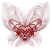 Entangled Heart. Abstract, entangled heart. Very highly detailed image. Bleeds to white at the borders Stock Photography