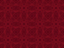 Entangled lines pattern. Red seamless entangled lines pattern Stock Photo