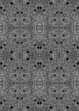 Entangled Maze Seamless Background Texture. Entangled intricate maze with chambers seamless rectangular tile. Monochrome black and white Royalty Free Stock Photo