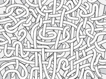 Entangled monochrome vector background Stock Photography