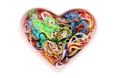 Entangled threads Stock Photo