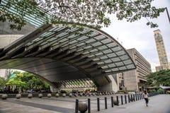Entarance del parco del giardino del triangolo di Ayala fotografia stock libera da diritti