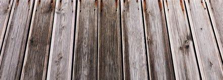 Entarimado de madera del decking compuesto fotos de archivo libres de regalías