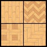 Entarimado de madera, modelo del vector del suelo de la madera dura ilustración del vector