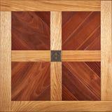 Entarimado modular de la élite Suelo de madera natural con textura y el modelo de lujo Visión superior Fotografía de archivo