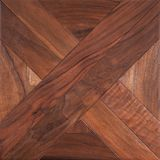 Entarimado modular de la élite Suelo de madera natural con textura y el modelo de lujo Visión superior Foto de archivo