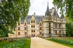 Entarnce to the chateau Azay le Rideau Stock Photography