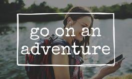 Entdecken Sie Entweichen-Yolo-Reise-Konzept stockfotos