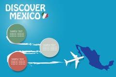 Entdecken Sie leeren Schablonenvektor Mexikos stock abbildung