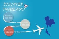 Entdecken Sie leeren Schablonenvektor Thailands stock abbildung