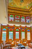 Entdecken Sie mittelalterliches Qavam-Haus, Shiraz, der Iran Stockfotos