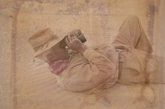 Entdecker-Mann mit Patina Stockfotografie